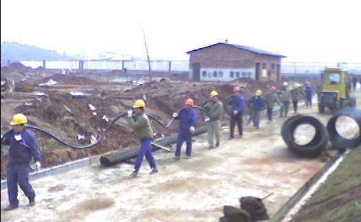 年产3500吨交联剂BIPB一期工程施工现场